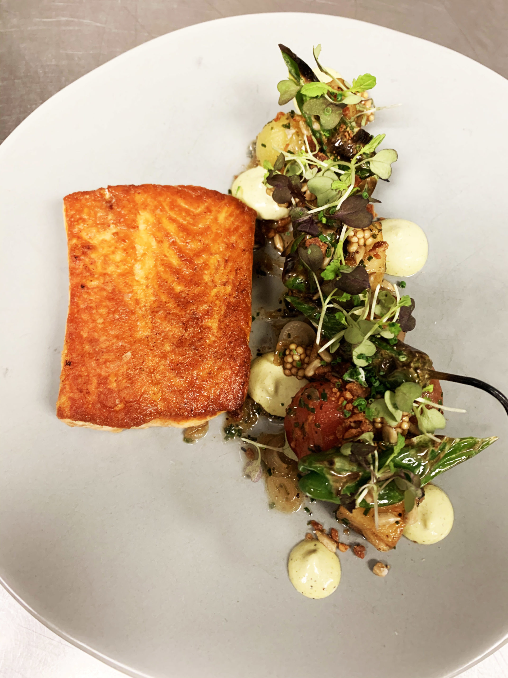 Celebrating Food Day Canada: Pan Roasted BC Raised Atlantic Salmon